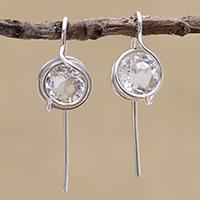 Quartz drop earrings,