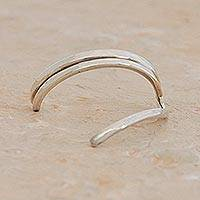 Silver nose cuff, 'Cleopatra' - Artisan Crafted Silver Nose Cuff from Brazil