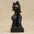 Resin sculpture, 'The Hot Kiss' - Romantic Fine Art Resin Sculpture in Black from Brazil thumbail