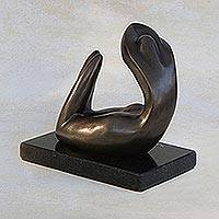 Bronze sculpture, 'Sensual Woman III' - Modern Sensual Bronze Sculpture of a Woman from Brazil