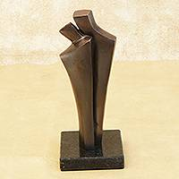 Bronze sculpture, 'Together for Always' - Brazilian Modern Fine Art Romantic Bronze Sculpture