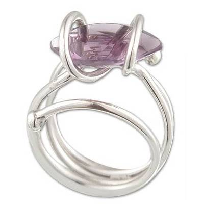 Modern Brazilian Amethyst Cocktail Ring