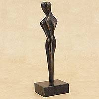 Bronze sculpture, 'Embrace' - Romantic Bronze Sculpture