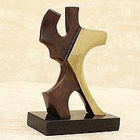 Bronze sculpture Dancing Couple in Brown Brazil