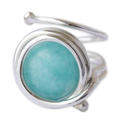 Unique Modern Brazilian Amazonite Ring