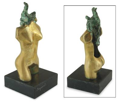 Fair Trade Abstract Bronze Sculpture from Brazil