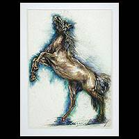 'Horse Standing' - Realist Acrylic Painting