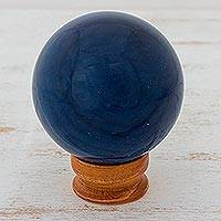 Blue agate crystal ball