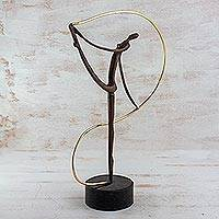 Bronze sculpture Sinuousness Brazil
