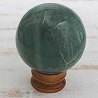 Quartz ball, 'Green Healer' - Quartz ball