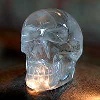Quartz statuette, 'Crystal Skull' (Brazil)