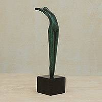 Bronze sculpture, 'Olympic Spirit' - Abstract Bronze Sculpture