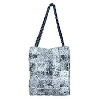 Shoulder bag, 'Light Dalmatian' - Shoulder bag