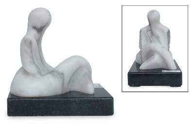 Marble sculpture, 'A Moment for You' - Marble sculpture