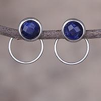 Sodalite drop earrings,