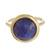 Gold plated sodalite single stone ring, 'Magic Pulse' - Gold Plated Sodalite Single Stone Ring from Peru (image 2a) thumbail