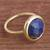 Gold plated sodalite single stone ring, 'Magic Pulse' - Gold Plated Sodalite Single Stone Ring from Peru (image 2b) thumbail