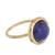 Gold plated sodalite single stone ring, 'Magic Pulse' - Gold Plated Sodalite Single Stone Ring from Peru (image 2c) thumbail
