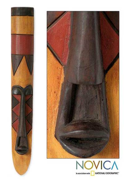 Gabon Africa mask, 'Fang Celebration' - Gabon Africa mask