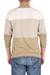 Men's cotton sweater, 'Green Earth' - Men's Cotton Sweater in Natural Green and Ivory Colors (image 2b) thumbail