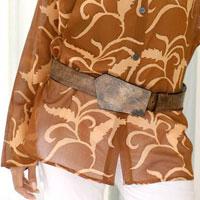 Leather belt,