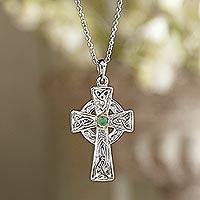 Emerald pendant necklace,
