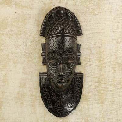 African wood mask, Festac Festivities