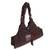 Cotton handbag with leather trim, 'Chocolate Brown' - Leather and Cotton Handbag in Brown (image 2b) thumbail