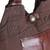 Cotton handbag with leather trim, 'Chocolate Brown' - Leather and Cotton Handbag in Brown (image 2c) thumbail