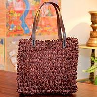 Sabai grass tote handbag,