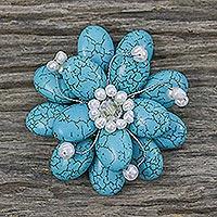 Pearl brooch pin,