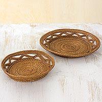 Pine needle baskets,