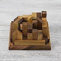 Wood puzzle,