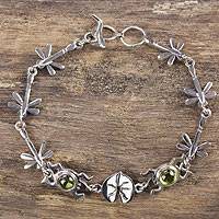 Peridot link bracelet,