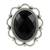 Onyx flower ring, 'Midnight Blossom' - Onyx and Sterling Silver Flower Ring from India (image 2b) thumbail