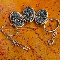 Brazilian drusy agate bracelet,