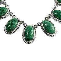 Jade pendant necklace,