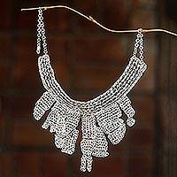 Sterling silver plated choker,