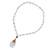 Gold plated quartz pendant necklace, 'Balance and Energy' - White Quartz Beaded Necklace with Gold-accented Pendant (image 2d) thumbail