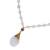 Gold plated quartz pendant necklace, 'Balance and Energy' - White Quartz Beaded Necklace with Gold-accented Pendant (image 2e) thumbail