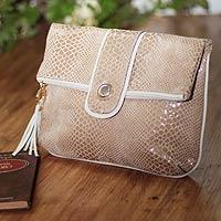 Leather clutch handbag,