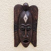 Ghanaian wood mask, 'Akan Afterlife' - African Wood Mask