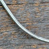 Sterling silver chain, 'Silver Snake' - Sterling Silver Chain Necklace