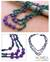 Malachite and amethyst strand necklace, 'Jacaranda Passions' - Malachite and amethyst strand necklace thumbail