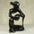 Wood sculpture, 'Destiny Pot' - Hand Carved Black Abstract Sculpture from Ghana (image 2b) thumbail