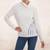 Alpaca blend turtleneck sweater, 'Weekend Adventure in Eggshell' - White Alpaca Blend Turtleneck Sweater from Peru thumbail