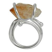 Citrine ring, 'Sunflower' - Citrine ring