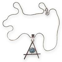 Silver with blue topaz, necklace - Silver with blue topaz