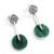 Chrysocolla dangle earrings, 'Opposites Attract' - Chrysocolla dangle earrings (image 2a) thumbail