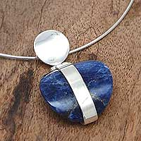 Sodalite pendant necklace, 'Innovate' - Sodalite pendant necklace